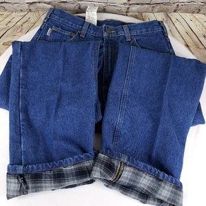 Men's Carhart flannel jeans